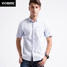 Mens Designer White Linen Shirt Us 14 29 45 Off Vomint New Summer Men Shirt Short Sleeved Cotton Shirt Single Pocket Designer Shirt Men Classic Casual White Linen Social Shirt In