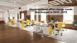 Office design images Interior Office Design Trends 20182019 Sec Storage Unconventional Office Design Trends That Forayed In 20182019 Shhoonya