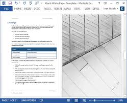 White Paper Template Magnificent 48 X White Paper Templates MS Word Templates Forms Checklists