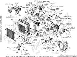 ford truck technical drawings and schematics section f heating air conditioning hoses engine compartment 1968 1972 f100 f350 6 cyl 240 300 w integral a c