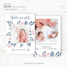Template For Birth Announcement Birth Announcement Template Baby Announcement Card Photo