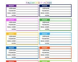 Password Log Password Log Etsy