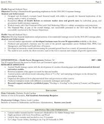 Examples Of Two Page Resumes Perfect Resume