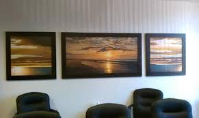 artwork for office walls. Sunset View Framed Office Wall Art Best Scenery Sea Ocean Modern 3 Piece Panel Free Print Artwork For Walls I