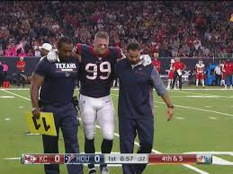He worked his way back to the field this year, but had yet to post a single sack for the texans. J J Watt Injury Texans De Will Miss The Rest Of The Season With A Fractured Leg Sbnation Com