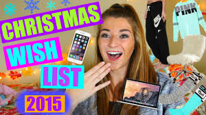 Christmas Wish List 2015 / Teen Gift Guide - YouTube