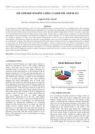 Heat Balance Chart Six Stroke Engine Using Gasoline And R 123