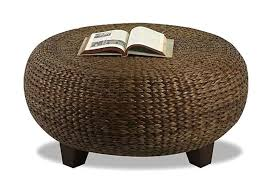 all weather wicker accent table brown wicker patio side table wicker coffee table round