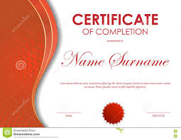 Templates For Certificates Of Completion Red Certificates Barca Fontanacountryinn Com