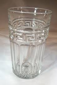 Heisey cut glass with ground bottom