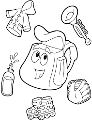 Small Picture Dora the Explorer Backpack Coloring Pages Best Place to Color