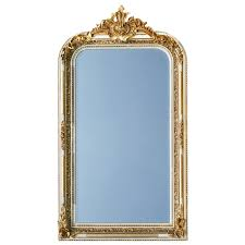 pomp mirror baroque style in gold and white 2 color frame mirror for wall with flowers