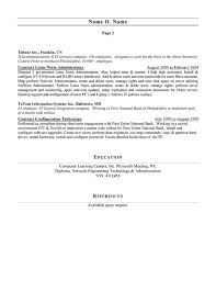 network administrator resume example cover letter network administrator