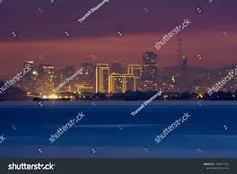 Blue Light In San Francisco Sky San Francisco Downtown View New Year Stock Photo Edit Now