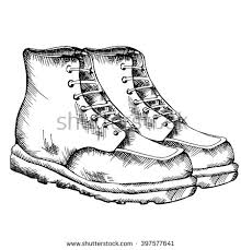 fashion boots drawing. men boots.vector illustration.men\u0027s fashion shoes.sketch shoes boots drawing