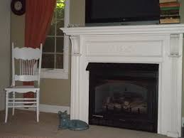 image of gas fireplace with mantel