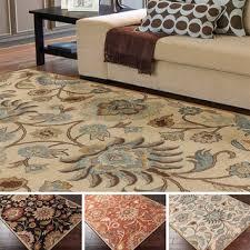 rug 12 x 12. hand-tufted alameda traditional floral wool area rug (9\u0027 x 12\u0027) 12