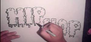 how to draw cool graffiti letters step