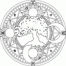 Small Picture Moon And Stars Mandala Coloring Pages Coloring Pages