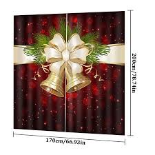 AIHOME <b>Christmas Decoration Digital Printing</b> Pattern Curtains ...