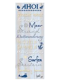 Wandschild Dekoschild Maritim Ahoi Schild Sprüche Vintage Shabby