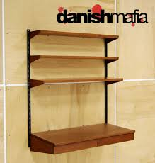 office wall shelving. modren office mid century danish modern teak desk cado wall shelving system within  with shelves throughout office