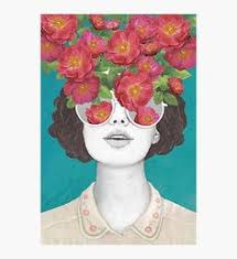 Buy <b>Zeroc</b> Nordic <b>Posters Prints</b> Flower Girl Portrait Wall Art Canvas ...