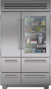 home sub zero sub zero 648prog 48 inch built in side side refrigerator with throughout glass door refrigerator for
