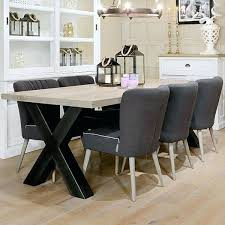industrial kitchen table furniture. Industrial Dining Room Furniture Cross Leg Oak Table Chairs Kitchen R