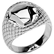 <b>Кольцо коллекции Totem</b> Snake/Змея из серебра, геометрия (без ...