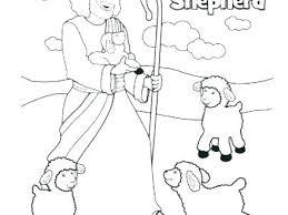 Jesus The Good Shepherd Coloring Page Adamoappscom