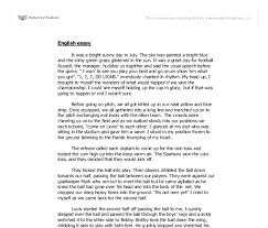 essay about sports sample essay on examples of gender descriptive essay of football games