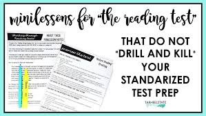 Reading Test Prep Minilessons Tarheelstate Teacher