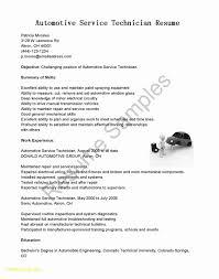 25 Auto Tech Resume Free Sample Resume