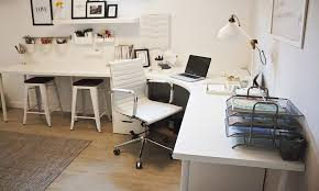 home office desk corner. white home office corner table setup with ikea linnmon adils alex drawer storage pinterest alex and desk c