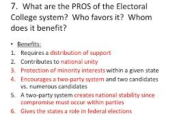 senior seminar mrs civitella ppt video online what are the pros of the electoral college system who favors it