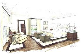 interior design bedroom drawings. Interior Designs Sketches Design Process Bedroom Colored Sketch Concept For Drawing . Drawings E
