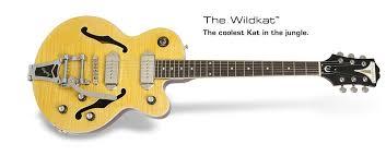 epiphone wildkat wildkat the coolest kat in the jungle