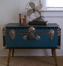 interesting blue small storage trunk coffee tables
