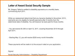 social security benefits letter letter of award social security sample 110 2