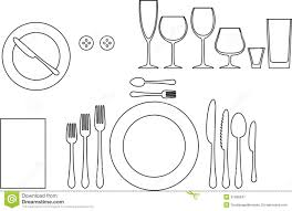 Table Setting In French Fine Dining Restaurant Table Setting Diagram