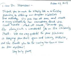 Thank You Letter To Doctor Inspiration Our Testimonials StanislawMDStanislawMD