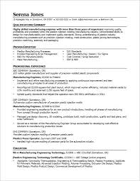 Engineering Skills Resume View This Sample Resume For A Midlevel Manufacturing