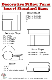 Standard Pillow Insert Sizes