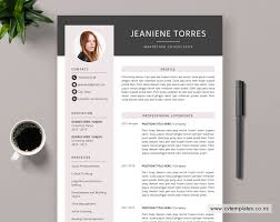 One Page Resume Templates Modern Cv Template For Ms Word Curriculum Vitae Best Selling Cv