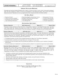 Restaurant General Manager Resume General Manager Management Modern 100 Resumes Resume Make Sure You 2