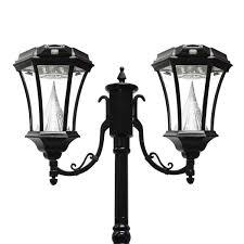 Gama Sonic Solar Coach Light Victorian Solar Lamp Series Double Lamp Post Gs 94d