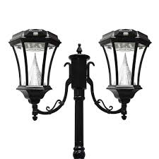 victorian solar lamp series double lamp post gs 94d gamasonic solar lighting