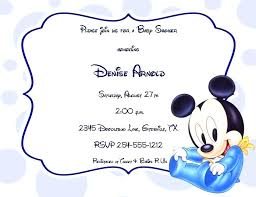 Mickey Mouse Baby Shower Invitations And Mickey Mouse Baby Shower