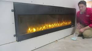 napoleon nefl72fh how to install a flush mount electric fireplace heater large into a wall